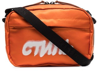 Heron Preston CTNMB logo print camera bag