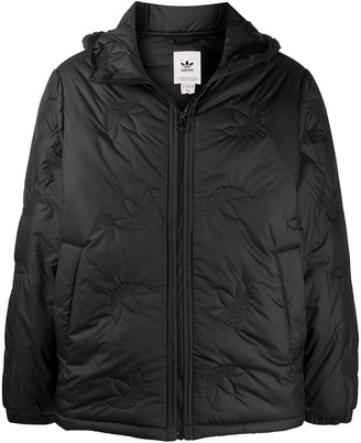 adidas Logo-Embossed Down Jacket