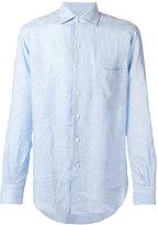 Loro Piana chest pocket shirt - men - Linen/Flax - XXL