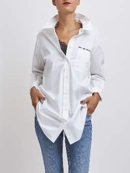 One Teaspoon Oneteaspoon - White Cotton The Pray Rock Shirt. 22188 - xs   cotton   white - White/White