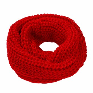 Hx Fashion Winter Snood Scarf Loop Tube Scarf Loop Scarf Classic Circular Scarf Knitted Scarf Soft Winter Scarf Yellow Knit Scarf Clothes (Color : Rot Size : One Size)