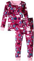 Hatley Nordic Forest Pajama Set (Toddler/Kid) - Pink - 8