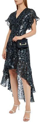 BA&SH Grace Leopard-print Metallic Fil Coupe Dress