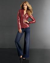 Shape fx® Side-Slimming Leather Jacket