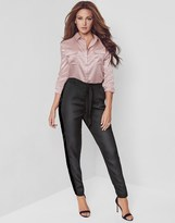 Lipsy Love Michelle Keegan Satin Tie Front Trousers