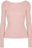 Elizabeth and James Fay Tie-back Ribbed-knit Sweater - Pastel pink