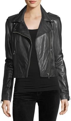 LAMARQUE Donna Classic Leather Biker Jacket