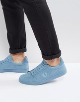 Fred Perry B721 Brushed Cotton Trainers Blue