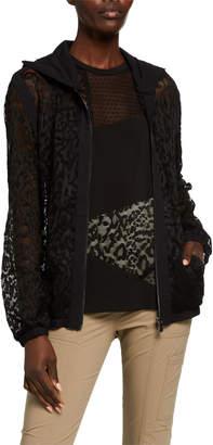 Anatomie Sierra Lace Detail Zip-Front Hooded Jacket