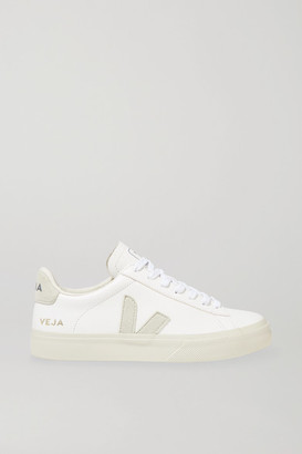 Veja + Net Sustain Campo Leather And Vegan Suede Sneakers - White