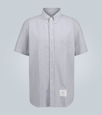 Thom Browne Cotton seersucker shirt