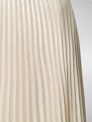 Max Mara Pleated Lame Long Skirt