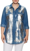 Rachel Roy Foil Wrapped Denim Shirt