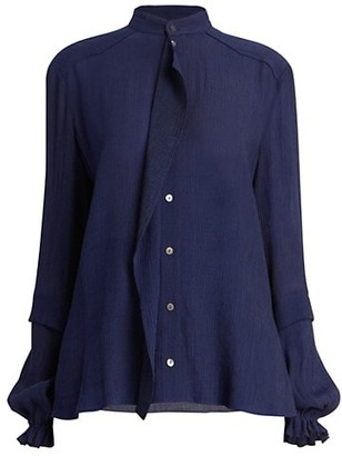 Roland Mouret Edgar Rippled Blouse