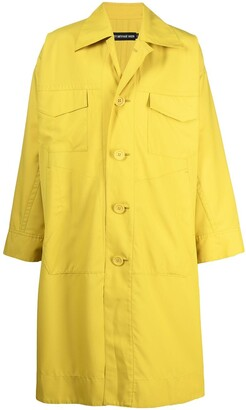 Issey Miyake Oversized Classic-Collar Raincoat