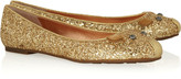 Marc by Marc Jacobs Glitter-finish leather mouse ballet flats