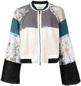 Aviu textured panel boxy jacket - women - Cotton/Polyamide/Polyester/Spandex/Elastane - 40