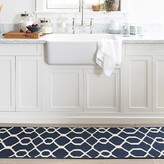 Williams-Sonoma Scroll Tile Kitchen Rug, Blue