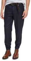Brunello Cucinelli Lightweight Flannel Wool Pants