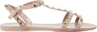 Valentino Rockstud Gladiator Flat Jelly Sandals