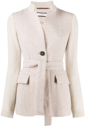Peserico Belted Knit Blazer