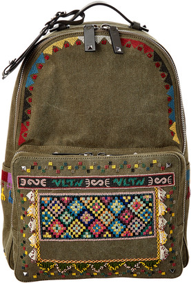 Valentino Embroidered Backpack