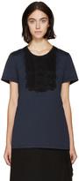 Burberry Navy Lace Appliqué T-Shirt