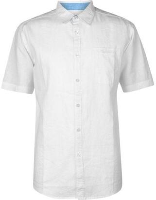 Pierre Cardin Short Sleeve Linen Shirt Mens