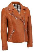 Wilsons Leather Womens Polished Classic Leather Cycle Jacket