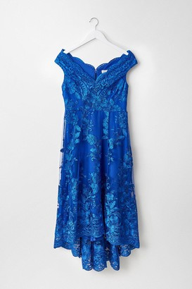 Coast Floral Lace Bardot High Low Dress