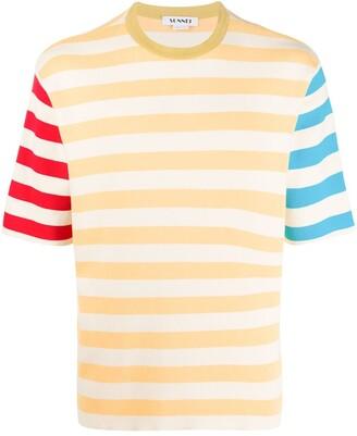 Sunnei colour block stripe T-shirt