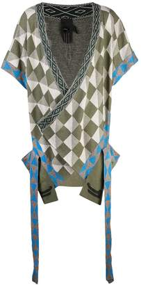 Bernhard Willhelm geometric short-sleeve cardigan