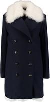 Sonia Rykiel Shearling-trimmed wool-felt coat