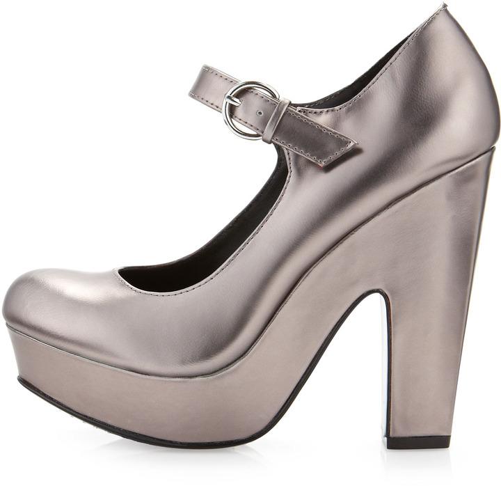 Dolce Vita Brill Mary Jane Platform, Silver