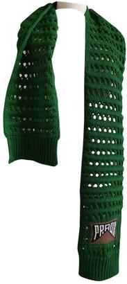 Prada Green Wool Scarves