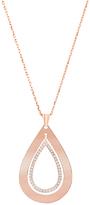 Bliss Cubic Zirconia & Rose Gold Open Teardrop Pendant Necklace