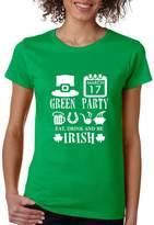 Allntrends Women's T Shirt Green Party St Patrick's Day Shirt Drunk Tee (2XL, )