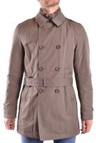 Herno Men's Brown Cotton Trench Coat.