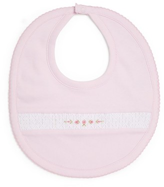Kissy Kissy Embroidered Floral Bib