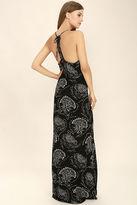 O'Neill Anissa Black Print Maxi Dress