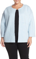 Eileen Fisher Boiled Wool Collarless Jacket (Plus Size)