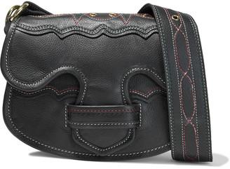 Antik Batik Tyria Eyelet-embellished Pebbled-leather Shoulder Bag