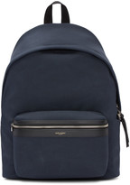 Saint Laurent Navy Classic City Backpack