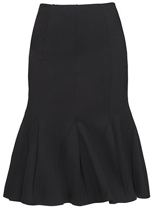 Donna Karan Lightweight Ponte Flare Skirt