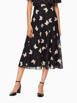 Kate Spade Butterfly embroidered skirt