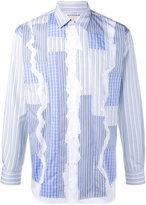 Comme des Garcons stripe patchwork shirt - men - Cotton - M