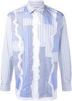 Comme des Garcons stripe patchwork shirt - men - Cotton - S