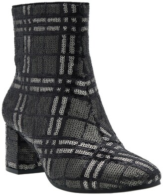 Impo Jarles Plaid Sequin Ankle Bootie