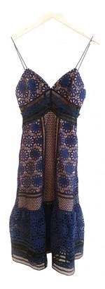 Self-Portrait Blue Polyester Dresses