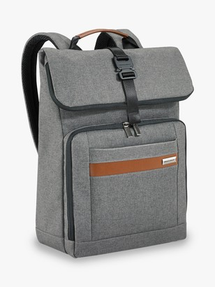 Briggs & Riley Kinzie Street 2.0 Medium Foldover Backpack, Grey